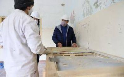 Esteban Echeverría: Gray supervisó el inicio de tercera etapa de obras del Hogar Escuela