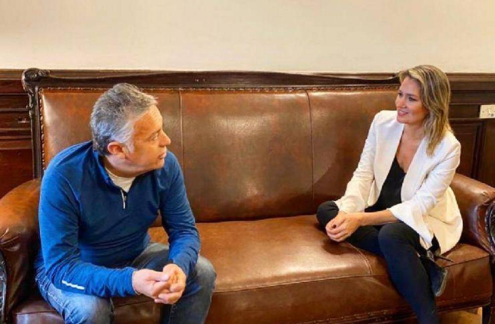 Carolina Losada evaluó con Alfredo Cornejo su candidatura a senadora nacional