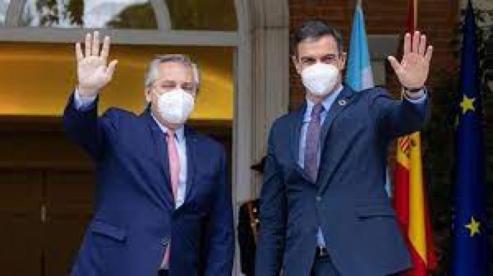 Apoyo por la deuda y apuesta por la Argentina: Alberto toma oxígeno con la visita de Pedro Sánchez