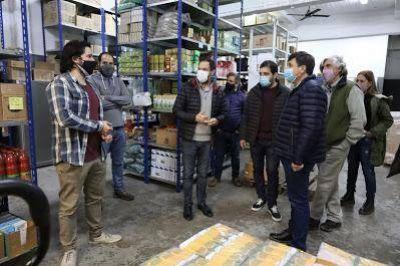 Fernando Moreira y Daniel Arroyo visitaron el centro de distribución mayorista de Alimentos Cooperativos en San Martín
