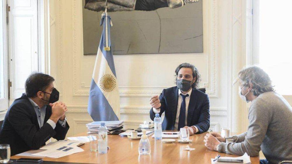 Santiago Cafiero se reunió con los jefes de Gabinete de Larreta y Kicillof para definir las restricciones en el AMBA