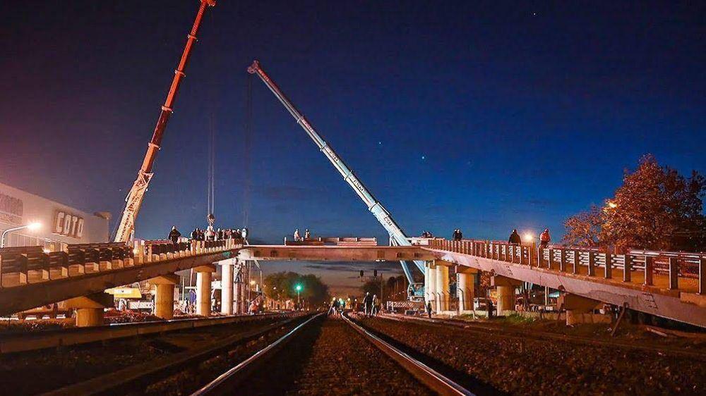 Merlo: este viernes se inaugura el primero de los trece puentes modulares del Tren Sarmiento