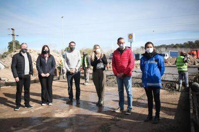 Fassi, Arrieta, Katopodis y Sabbatella recorrieron obras en ejecución en Cañuelas