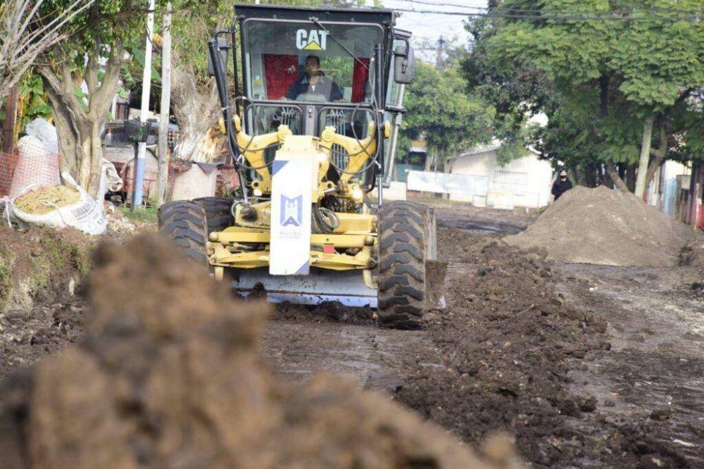 Se completa el pavimento de la calle Coronel Juan de San Martín