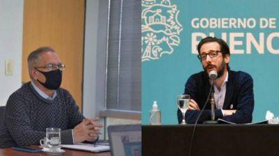 Alberto Descalzo y Simone firmaron un convenio para ejecutar obras de saneamiento en Ituzaingó