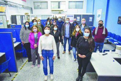 Mayra visitó una sede de PAMI y destacó al personal de la Salud