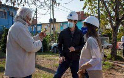 Galmarini, Andreotti y Marinucci recorrieron obras que AySA y Trenes llevan adelante en San Fernando