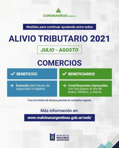 El Municipio de Malvinas Argentinas dispone nuevas medidas de alivio fiscal para sectores afectados por la pandemia de COVID-19