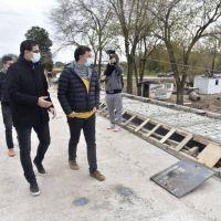 Los intendentes Rosso y Graglia supervisaron el puente nuevo