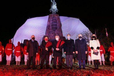 Alberto Fernández participó en Salta de los actos por el bicentenario de la muerte de Miguel de Güemes