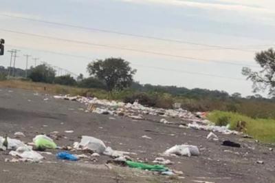 Malestar por peligroso basural en Ruta 12