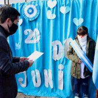 Un Día de la Bandera especial en Malvinas Argentinas