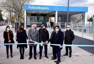 Nardini y Guerrera inauguraron la cuarta estación renovada de Malvinas Argentinas