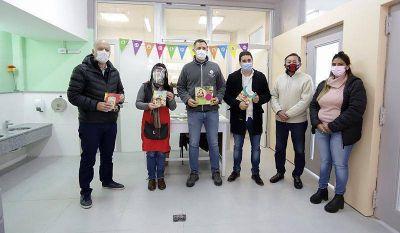 Lanús: Grindetti supervisó protocolos y recorrió la obra de remodelación del Jardín de Infantes 17 de Monte Chingolo