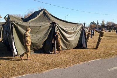 Alta Gracia: arman hospital de campaña en el predio de las Colectividades