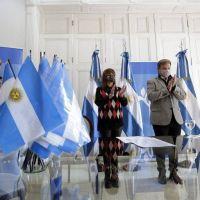 Cascallares encabezó la Promesa a la Bandera de forma virtual con 150 alumnos de Almirante Brown