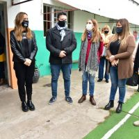 Tolosa Paz y Menéndez junto al colectivo nacional de niñez, adolescencia y familia en el jardín Abrázame de Merlo