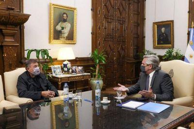 El Presidente recibió a Caserio: una señal política hacia el Frente de Todos