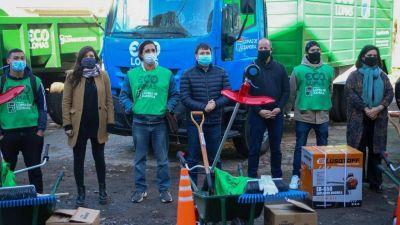 """Más herramientas para potenciar el proyecto """"Eco Lomas"""" de reciclado y servicios ambientales"""