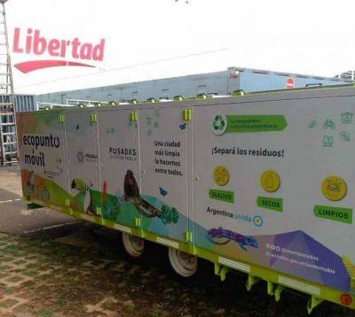 Posadas Sustentable: El Ecopunto sigue recorriendo la Ciudad