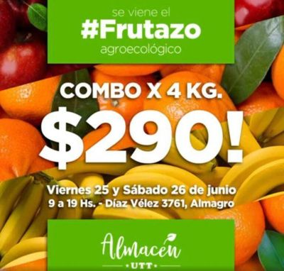 #Frutazo: ofrecen frutas agroecológicas a precios populares en Almagro, Avellaneda, Monte Grande y La Plata