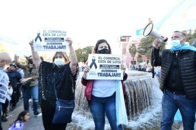 Protesta de gastronómicos por las restricciones horarias en Córdoba
