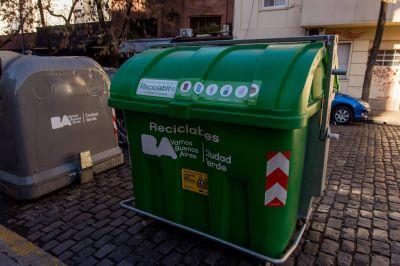 La Ciudad sigue sumando contenedores verdes