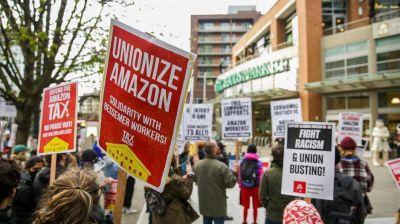 La construcción de un sindicato en Amazon liderada por camioneros