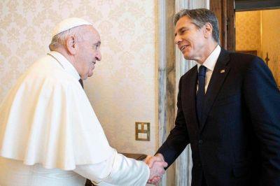 El Papa recibió a Blinken en un momento de tensión entre Biden y la Iglesia de EE.UU.
