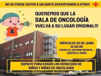 """""""Queremos que la sala de oncología vuelva a su lugar original"""""""