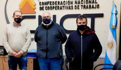 Darío Benavidez se reunió con autoridades nacionales de la Confederación Nacional de Cooperativas de Trabajo