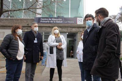 García, Posse y Simone recorrieron obras en los Centros de Salud Primaria de San Isidro
