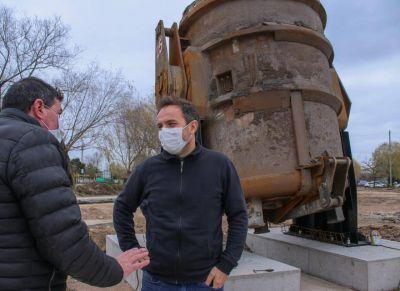 Nueva Costanera de Campana: ya se emplazó la cuchara de acería de Tenaris y continúan las obras