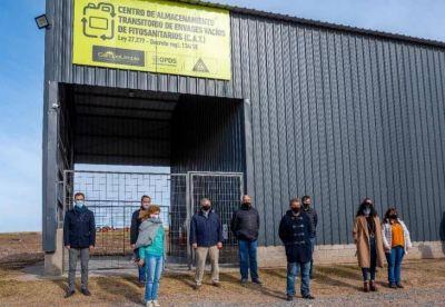 Petrecca inauguró el Centro de Acopio Transitorio para envases de fitosanitarios