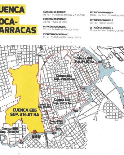 Avanza la puesta en valor y operación del sistema de control de inundaciones de La Boca y Barracas