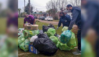 En Sicardi organizan jornadas de reciclaje para abordar el problema de la basura