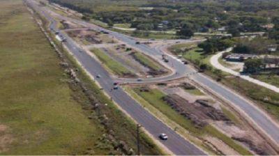Corredor Atlántico: las obras en autovía en las rutas 11 y 56 tiene un avance del 88%