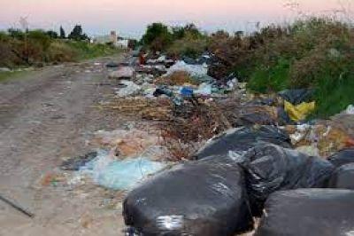 Vecinos de Chapadmalal realizaron una jornada de limpieza en el basural