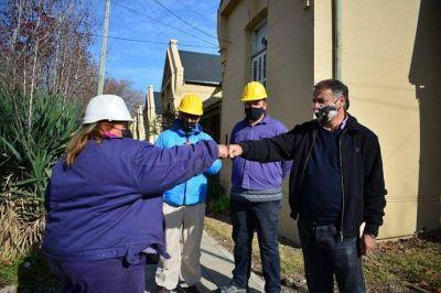 Barrio Las Colonias de Lanús: terminó la primera etapa de las obras