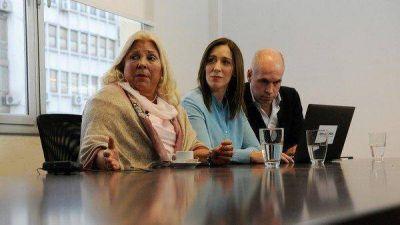Elecciones 2021: junto a Vidal, Carrió apuntó contra Manes y la UCR por impedir la unidad