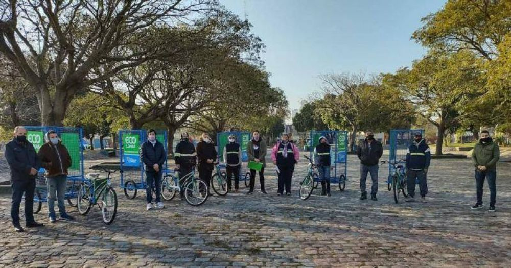 Reciclado en Lomas: entregan vehículos para la recolección domiciliaria