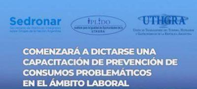 Se inicia capacitación sobre prevención de consumos problemáticos en el ámbito laboral