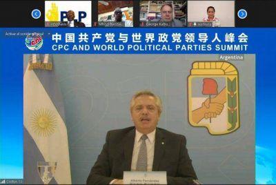 Alberto Fernández participó del acto por los 100 años del Partido Comunista chino