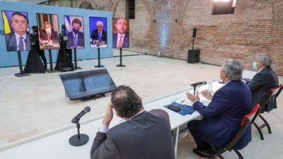"""Alberto Fernández respondió a la decisión de Uruguay de firmar acuerdos comerciales por fuera del Mercosur: """"Nadie se salva solo"""""""