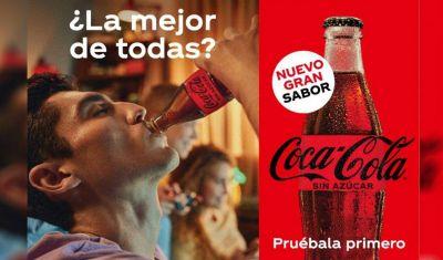 Reconocida marca de gaseosa lanza nueva receta de bebida sin azúcar