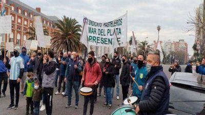 Alfajoreros realizaron una protesta por falta de acuerdo en paritarias