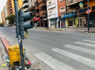 Córdoba capital: destrozaron dos semáforos en los festejos