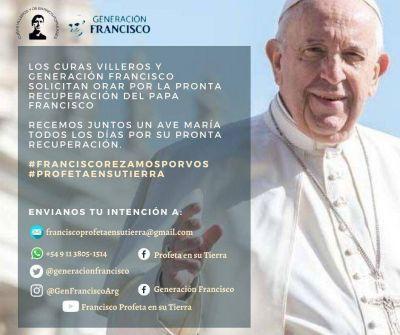 Piden orar por la recuparación del Papa Francisco