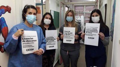 Profesionales de la salud bonaerense piden licencias de descanso y paritarias
