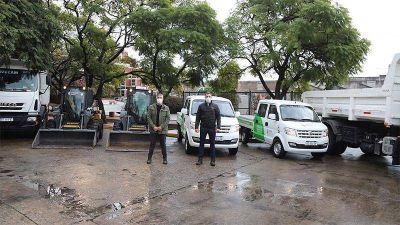 Lanús sumó nuevos camiones, camionetas y minicargadoras para mejorar las tareas de limpieza urbana